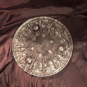 Other - Stunning vintage crystal footed platter